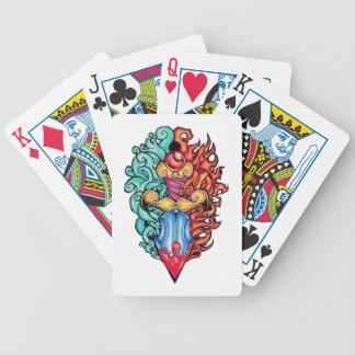 Fire & Water Dagger Tattoo Poker Deck