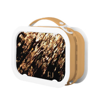 Fire Water Monogrammed Lunch Box