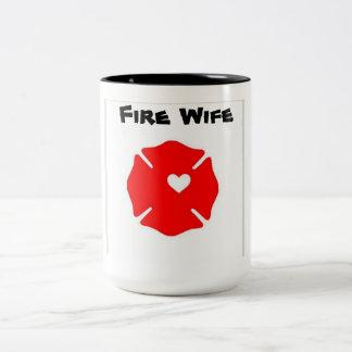 Fire wife Two-Tone coffee mug