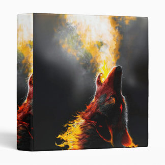 Fire wolf 3 ring binder