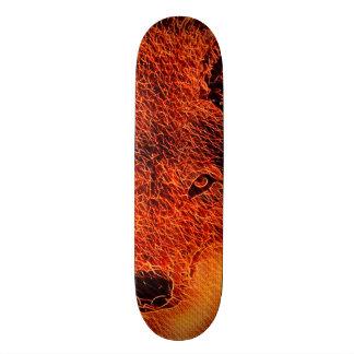 Fire Wolf Airbrush Element Custom Pro Park Board Skateboard Decks