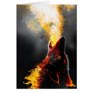 Fire wolf card