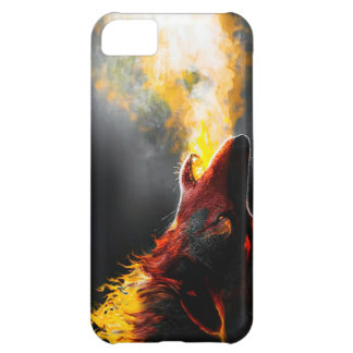 Fire wolf case for iPhone 5C