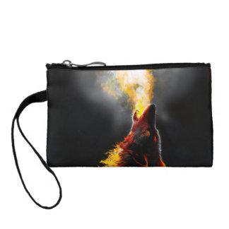 Fire wolf coin purse