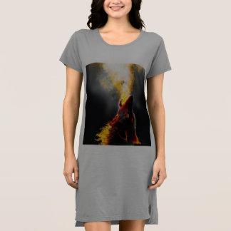 Fire wolf dress