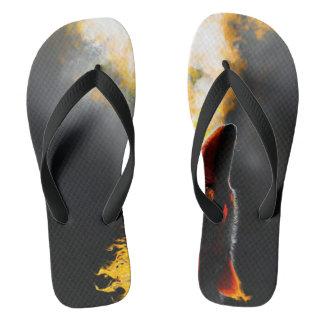 Fire wolf flip flops