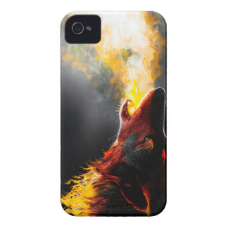 Fire wolf iPhone 4 cases