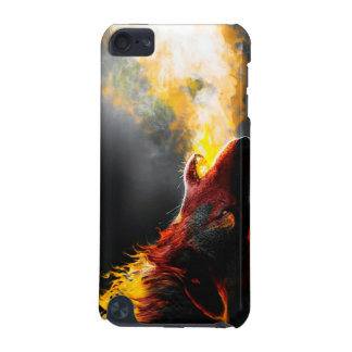 Fire wolf iPod touch (5th generation) covers