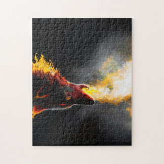 Fire wolf jigsaw puzzle