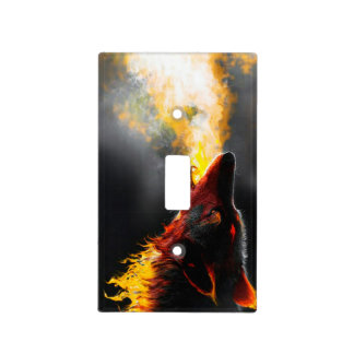 Fire wolf light switch cover