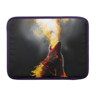 Fire wolf MacBook sleeve