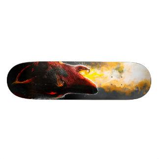 Fire wolf skate board deck