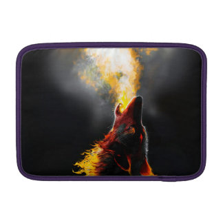 Fire wolf sleeve for MacBook air