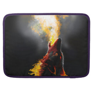 Fire wolf sleeve for MacBooks