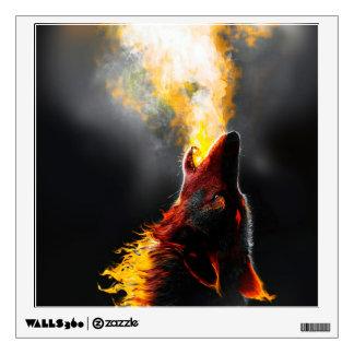 Fire wolf wall sticker