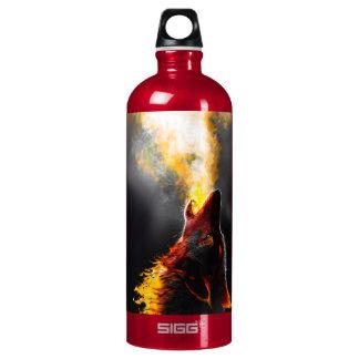 Fire wolf water bottle