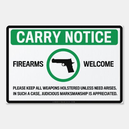 Firearm Friendly Signs