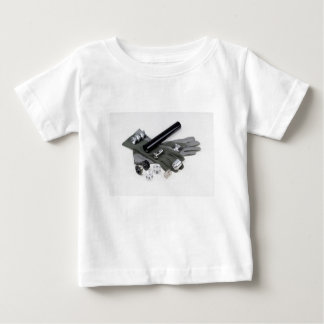 Firearm Suppressor Silencer with Military Gloves Baby T-Shirt