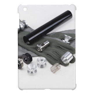 Firearm Suppressor Silencer with Military Gloves iPad Mini Cases