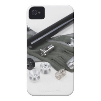 Firearm Suppressor Silencer with Military Gloves iPhone 4 Case-Mate Cases