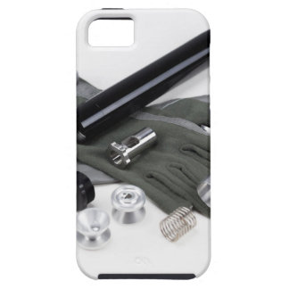Firearm Suppressor Silencer with Military Gloves iPhone 5 Case