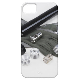 Firearm Suppressor Silencer with Military Gloves iPhone 5 Cover