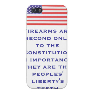 Firearms are second only to the Constitution in im Covers For iPhone 5