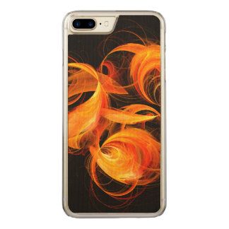 Fireball Abstract Art Carved iPhone 7 Plus Case