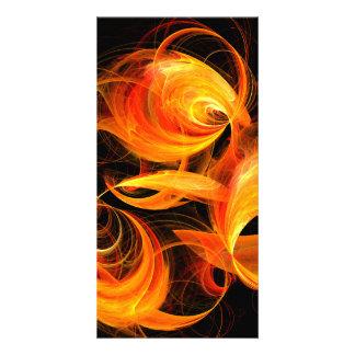 Fireball Abstract Art Photo Card