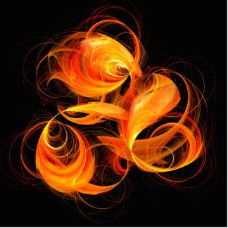 Fireball Abstract Art Standing Photo Sculpture