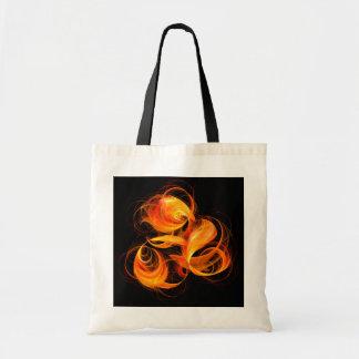 Fireball Abstract Art Tote Bag