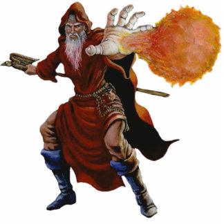 Fireball Wizard Photo Sculpture