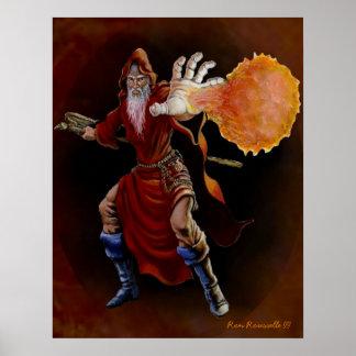 Fireball Wizard Print