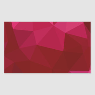 Firebrick Red Abstract Low Polygon Background