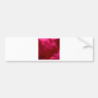 Firebrick Red Abstract Low Polygon Background Bumper Sticker