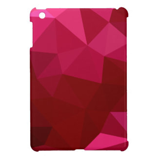 Firebrick Red Abstract Low Polygon Background iPad Mini Cover