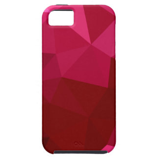 Firebrick Red Abstract Low Polygon Background iPhone 5 Cases