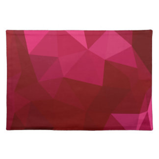 Firebrick Red Abstract Low Polygon Background Placemat
