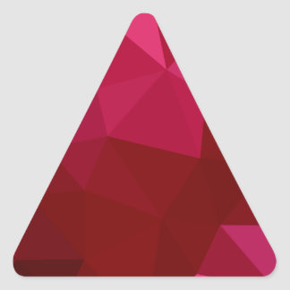 Firebrick Red Abstract Low Polygon Background Triangle Sticker