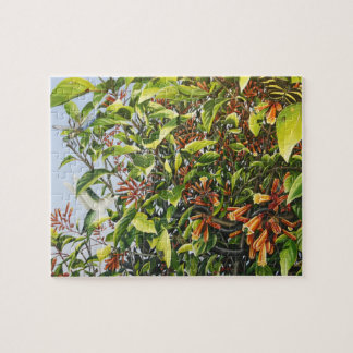 Firebush with Hummingbird and Insects Puzzle