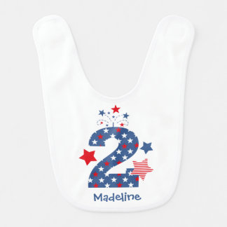 Firecracker 2nd Birthday Bib