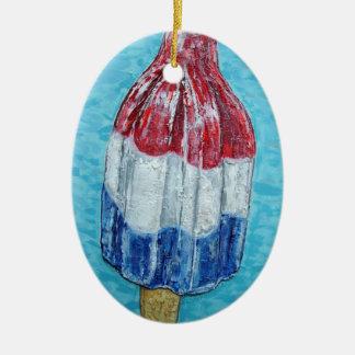 firecracker bomb popsicle art original painting ceramic oval ornament