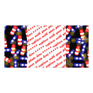 Firecrackers for the 4th of July Customized Photo Card