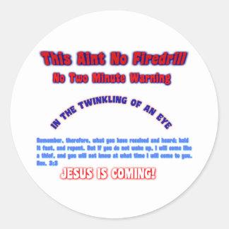 Firedrill 3 round sticker