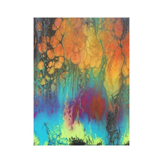 Firefall Wrapped Canvas