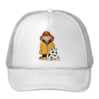 Firefighter and Dog Trucker Hat