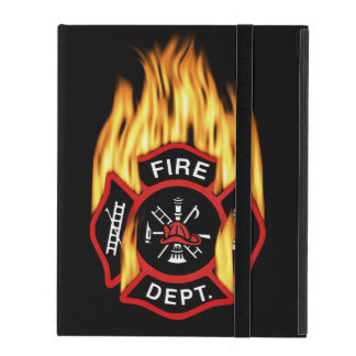 Firefighter Badge Flaming Covers For iPad