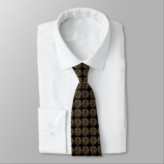 Firefighter Badge Gold Pattern Tie