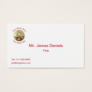 Firefighter Battalion Chief Gold Medallion Business Card