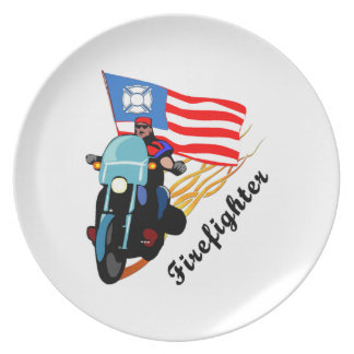 Firefighter Bikers Party Plates